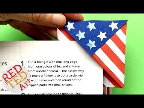 American Flag Bookmark - Red Ted Art's Blog