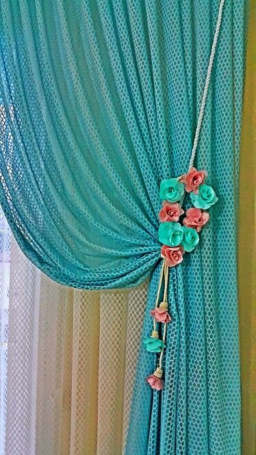 Tül fon çiçekli toplama #essaperde #curtain #bedroom #bohemian