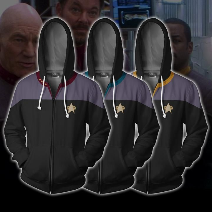 184f1019 Star Trek Hoodies - Star Trek: Deep Space Nine Zip Up Hoodie | The ...