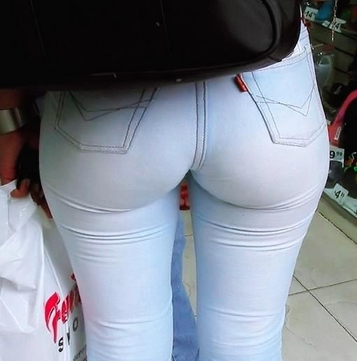 Nice Girl's Ass In Tight Red Pants&nbsp