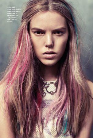 Coloured streaks. Vogue Taiwan.