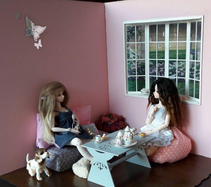 Miroir accessoire diorama 1/4  pour poupées BJD minifée, ellowynn wilde, tonner ou autres de même tailles de la boutique SunnyShop211 sur Etsy