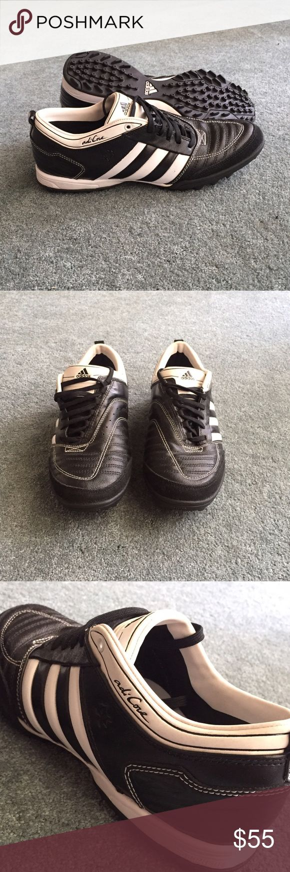 Adidas adiCORE Turf soccer sneakers Like new! Super comfy black and white adidas turf shoes! Size 7.5 Adidas Shoes Sneakers