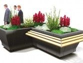 http://www.hartecast.co.uk/category/planters/ - Close up image of the L-shaped planter from Hartecast's new range. Available in a variety of shapes and sizes, please visit the Hartecast UK website for more on our range of our street furniture.