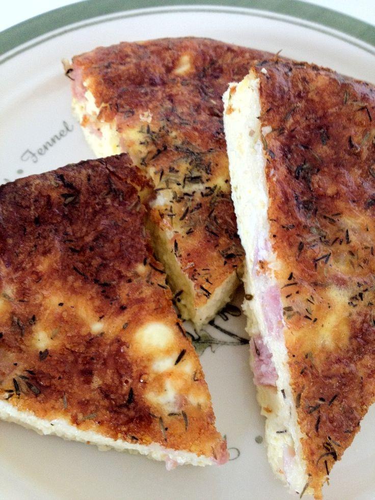 Crustless Quiche - Ham and Cheese