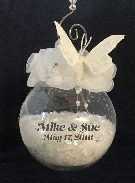 15 best Wedding Ornaments images on Pinterest | Glass ornaments ...