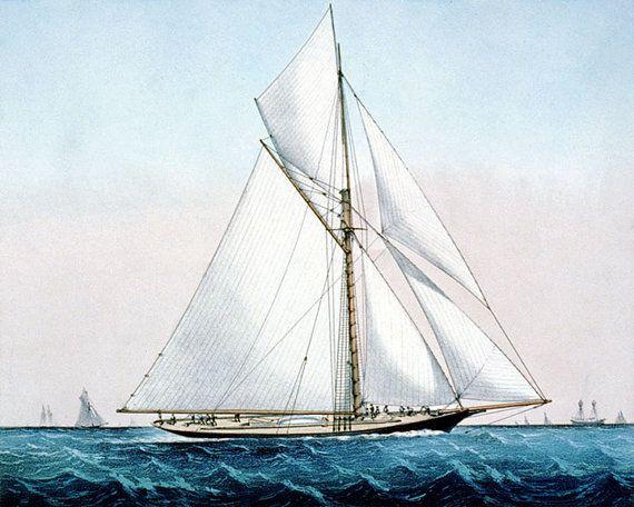 Vintage Sailboat Sketch 51 best images ...