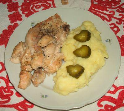 Sörben sült csirkecomb és csirkemell falatkák krum...