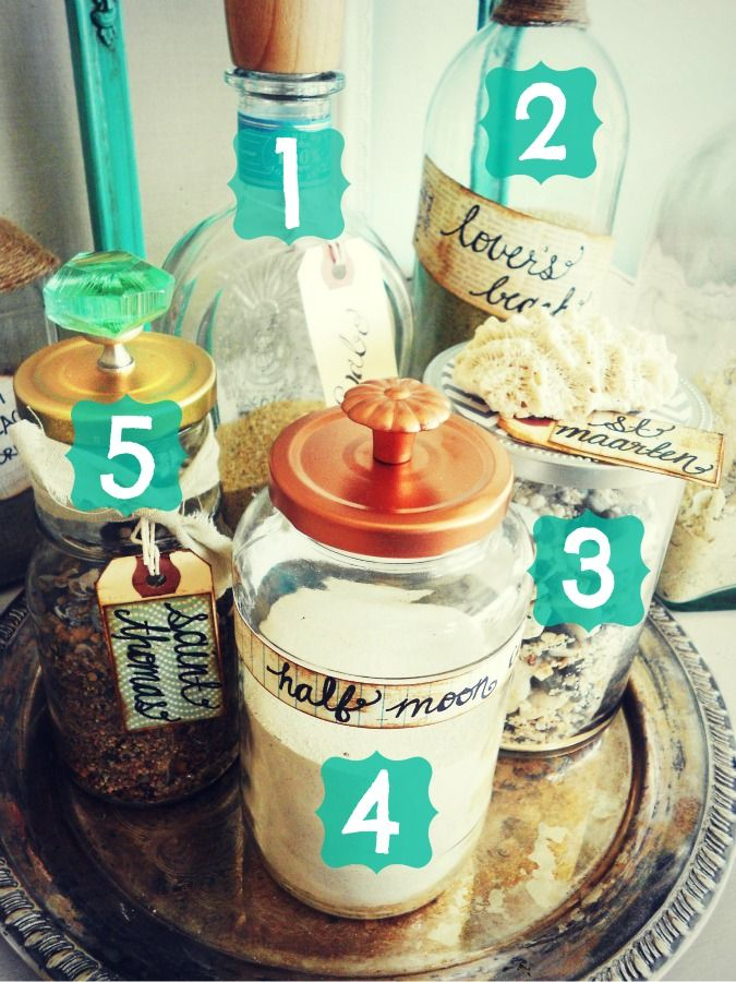Sand bottles decor {guest post} | I Heart Nap Time - How to Crafts, Tutorials, DIY, Homemaker