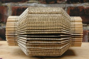 Lantern Book Sculpture