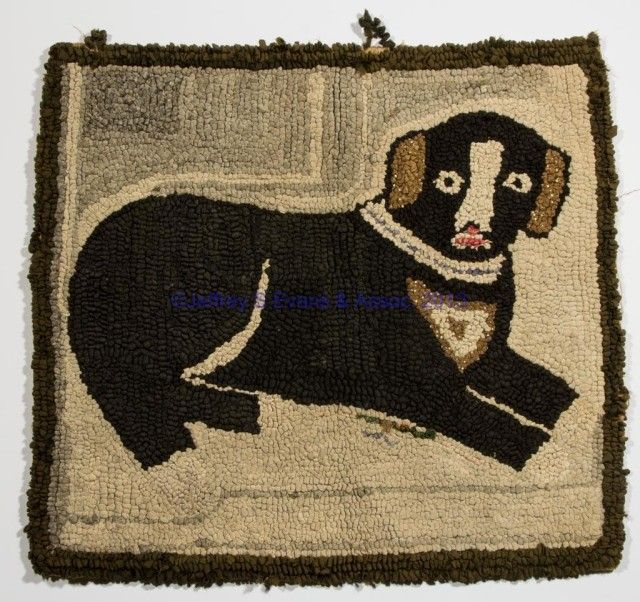 Dog Hooked Rugs: 117 Best Images About Old And New Hooked Dog Rugs On