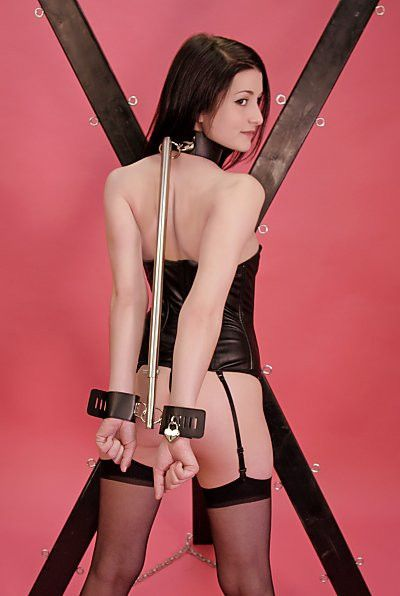 Bondage collared female free leather photo