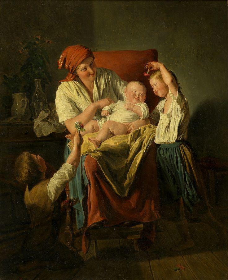 Ferdinand Georg Waldmüller, Mutterglück, 1860, Öl auf Leinwand © Wien Museum