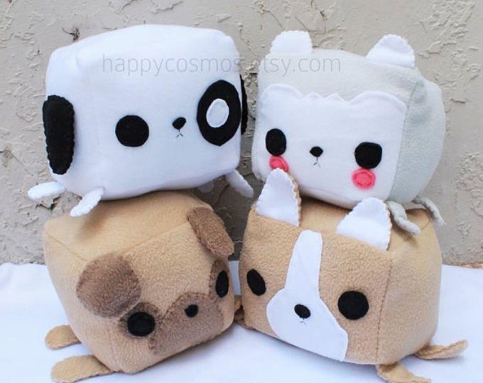 EN venta - peluche perro Animal - Kawaii peluche, peluche lindo, Pilot de los niños, juguete de los niños, Corgi, Pug, Husky, regalo de Navidad