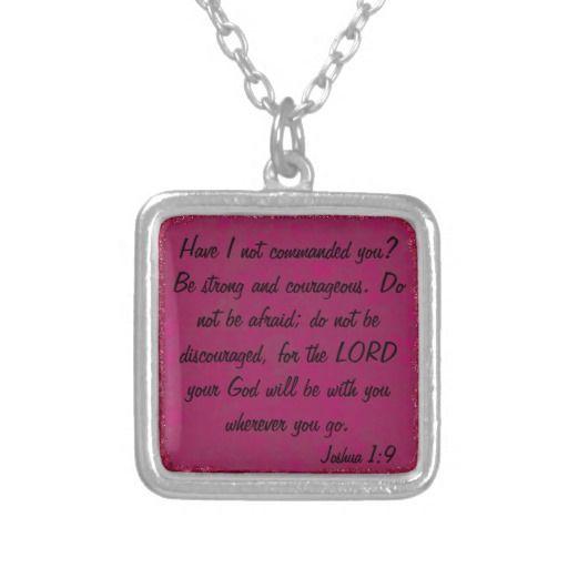 encouagement bible verse Joshua 1:9 necklace