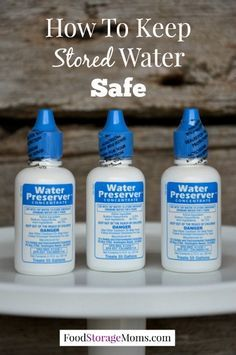 How To Keep Stored Water Safe To Drink Now | via www.foodstoragemoms.com