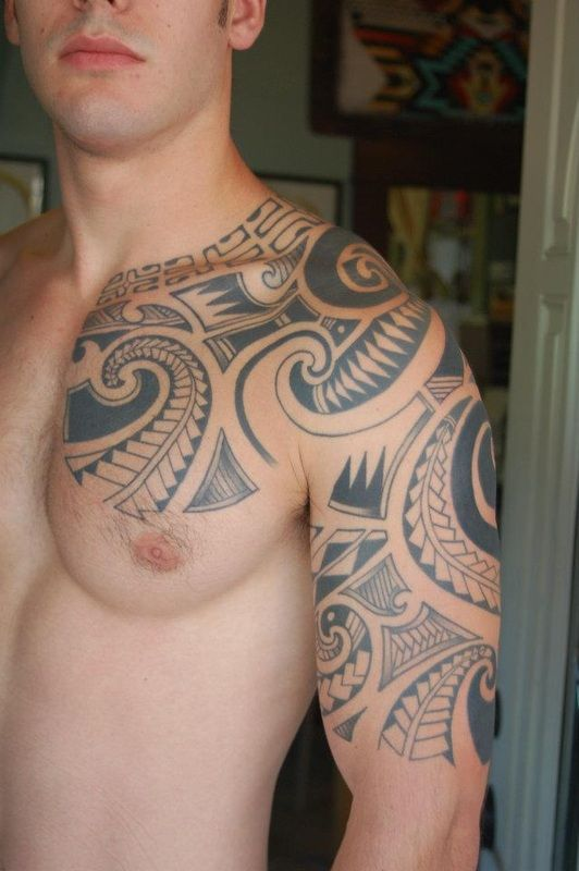 polynesian tribal and color tattoos now infinity