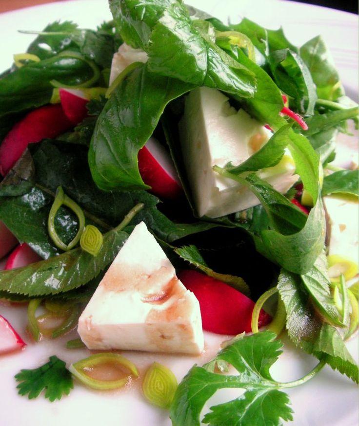 Herkkusuun lautasella-Ruokablogi: Voikukkainen villiyrttisalaatti
