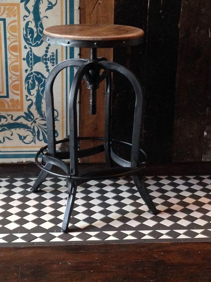 The original Steel Magnolias adjustable bar stool