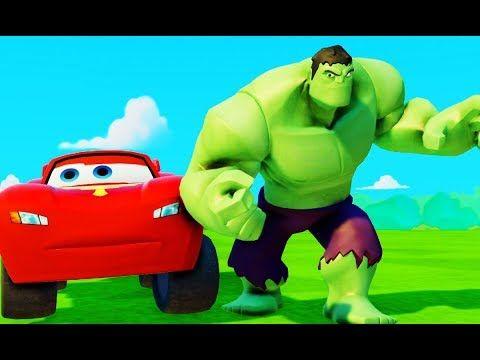 Мультики Молния #МАКВИН Тачки Халк с машинками #МАШИНКИ Дисней лучшие игрушки Hulk McQueen - YouTube