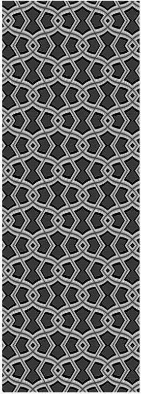 Diamond Shapes on Charcoal Yoga Mat by Terrella