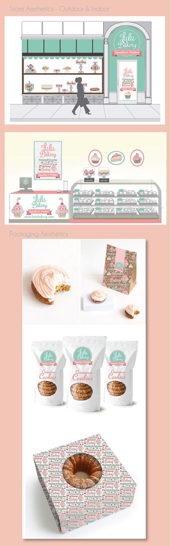 Lulu Bakery - Branding by Luciana Cruz, via Behance