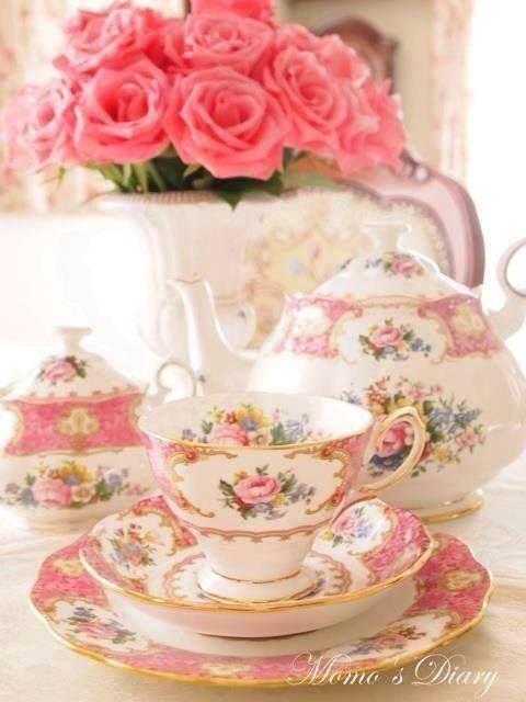 teatime.quenalbertini: Beautiful tea time table
