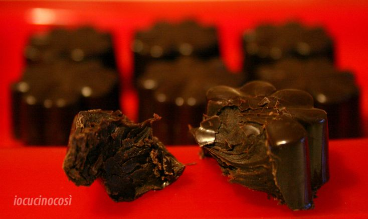 Cioccolatini al whisky ripieni