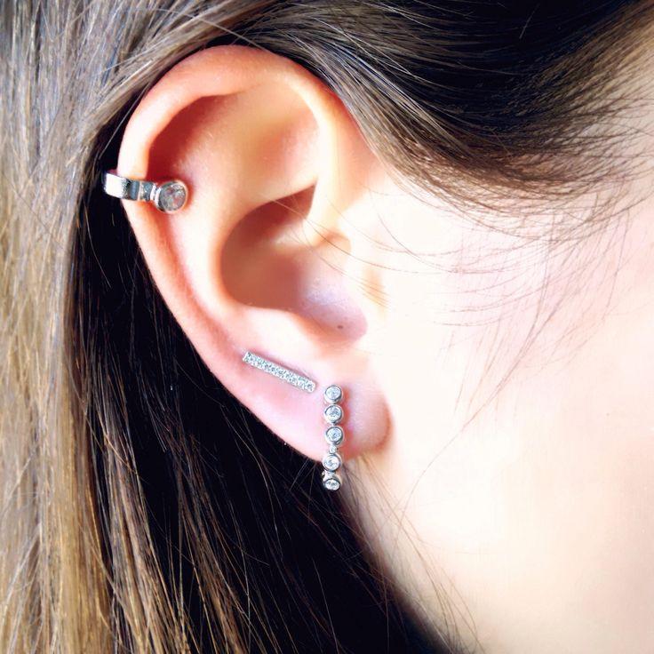 Un favorito personal de mi tienda de Etsy https://www.etsy.com/es/listing/526257479/silver-earrings-minimal-earrings-for-her