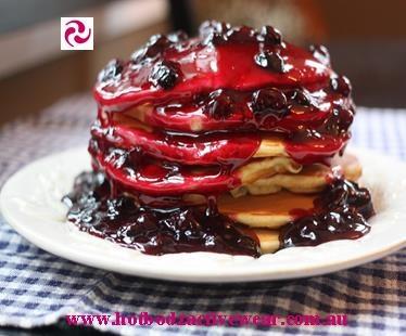 Yummy Blueberry Pancakes for Shrove Tuesday!