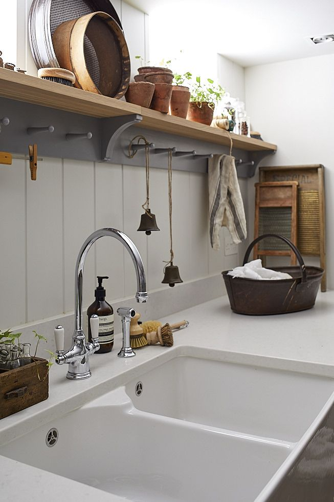 Utility Room designed by Sims Hilditch for Malvern Family Home. ©