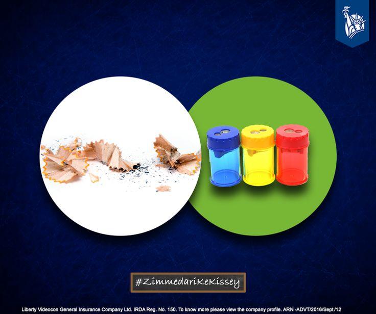 Carrying sharpener bins to avoid creating unnecessary mess was being Zimmedar. #ZimmedariKeKissey