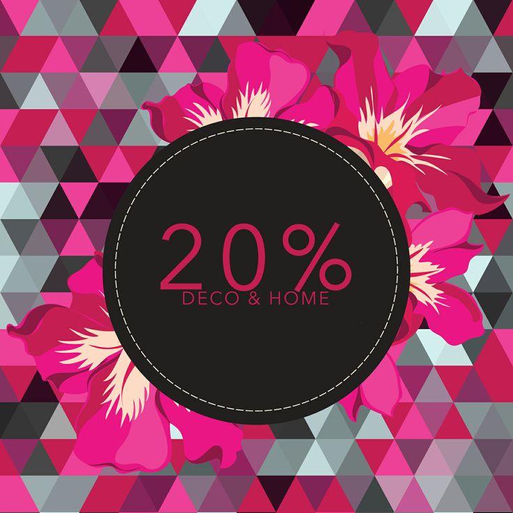 20% DE DESCUENTO EN TODO DECO & HOME  www.tuttematute.cl