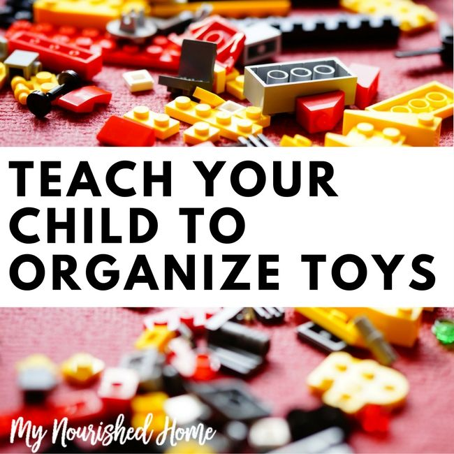 Organization skills will follow your kids in their lives - your first opportunity to share this skill is when you teach your child to organize their toys!