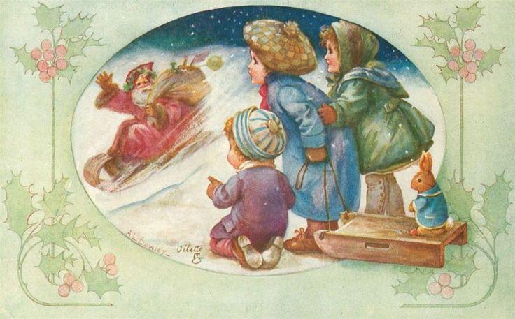 Художник-иллюстратор Albert Allick Bowlly. Рождественские открытки. Обсуждение на LiveInternet - Российский Сервис Онлайн-Дневников
