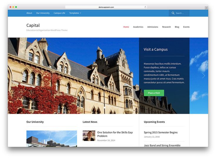 39 best university college websites images on pinterest website a hand picked collection of the best education wordpress themes designed for university college school online courses and other education related web pronofoot35fo Images