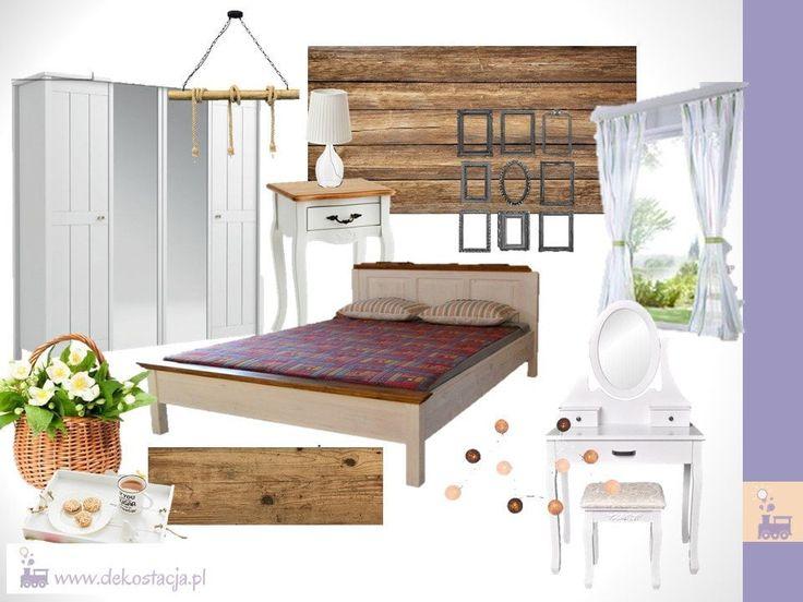 Projekt sypialni w stylu rustykalnym    #rustic #home #sypialnia