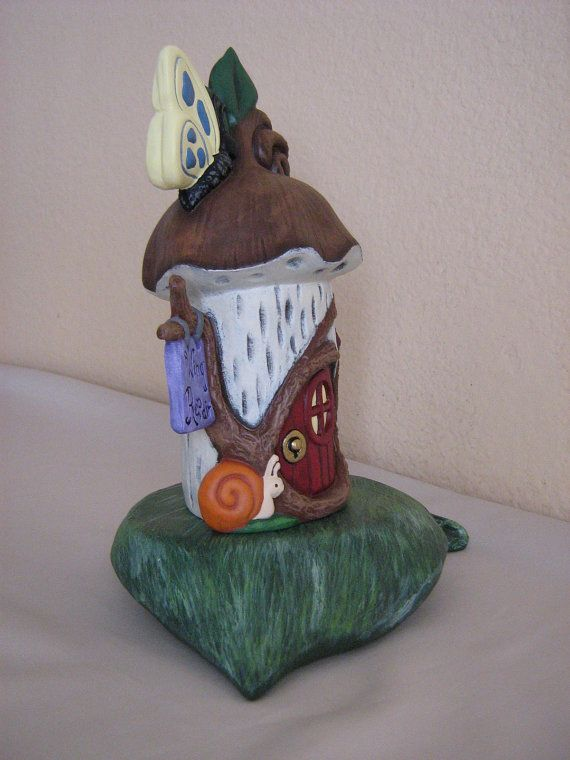 Ceramic Fairy House with Base