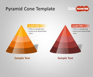 free 3d pyramid cone powerpoint shapes template is a powerpoint
