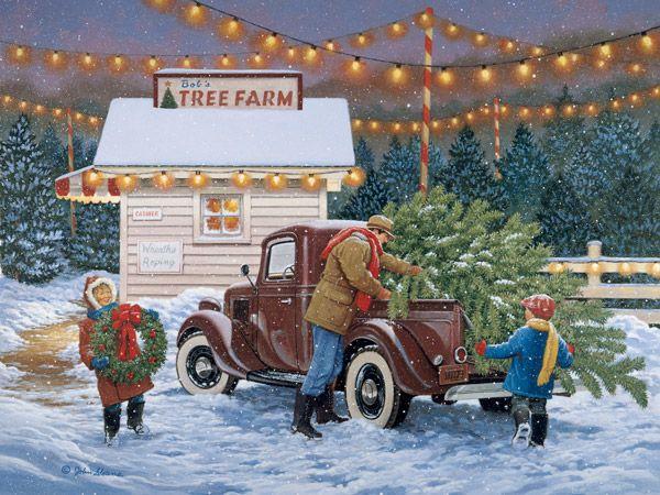 Tree Farm JohnSloaneArt.com - John Sloane - Gallery - Antique Cars and Trucks: