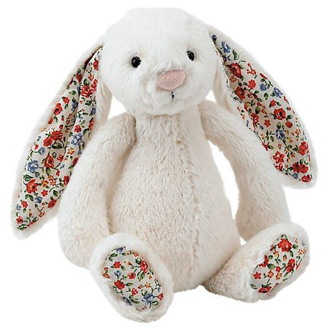 Buy Jellycat Bashful Blossom Bunny, Small, Cream Online at johnlewis.com
