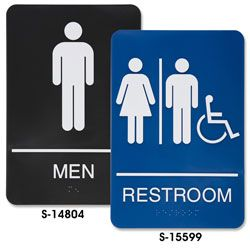 uline stocks a huge selection of unisex bathroom sign unisex restroom sign and handicap restroom sign order by 6 pm for same day shipping