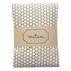 Mitani Crib Sheet - Cream Dots