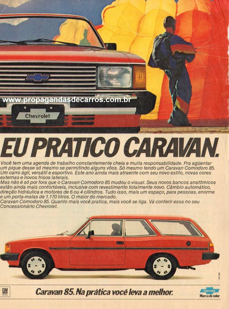 Propagandas de Carros - Propaganda Chevrolet Caravan Comodoro 1985 (02)