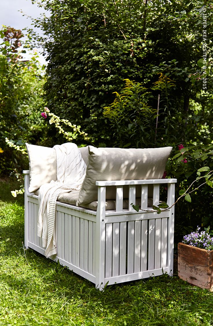 ngs banc rangement ext rieur teint blanc blanc salons tuin and ikea. Black Bedroom Furniture Sets. Home Design Ideas
