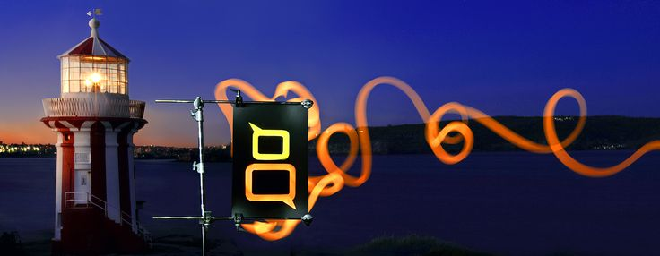 Our new creative promotional image for www.Lighthouse8.com done with lightpainting and slow shutter speed photography by ICE Creative www.icecreative.com.au #lightpainting #lighthouse #slowshutter #photography