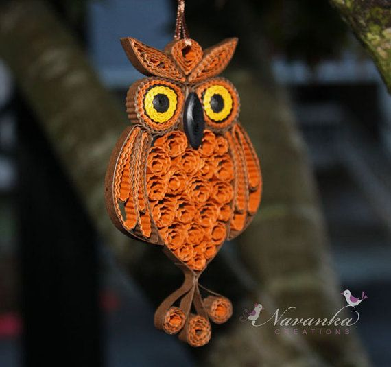 Paper Quilling Owl Ornament