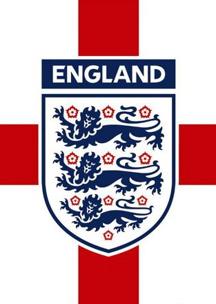 The England badge on the Cross of St George flag