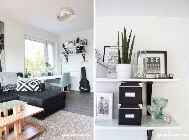 Blog wnętrzarski - design, nowoczesne projekty wnętrz: Mieszkanie blogerki (dwupokojowe w bloku z płyty)