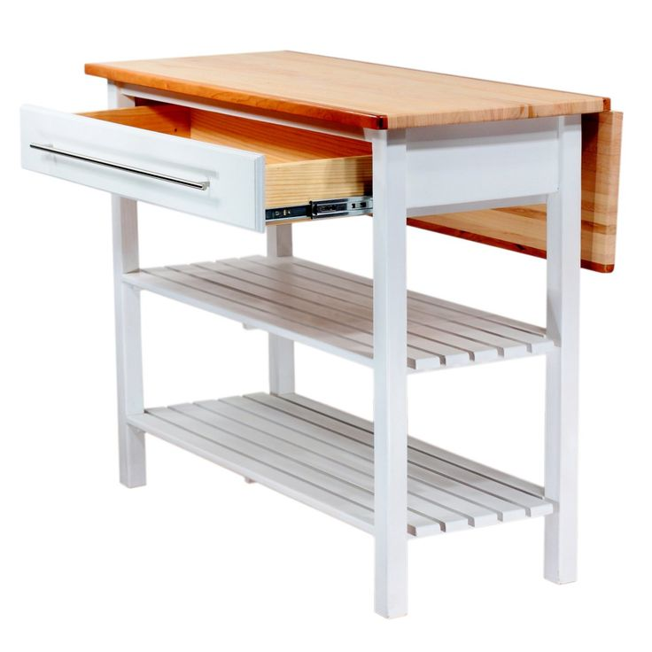 Pebble Creek Kitchen Island with Drop Leaf   Kitchen Islands and Carts